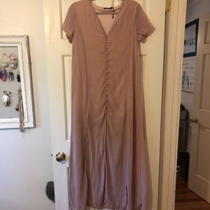 Button down maxi dress - never worn